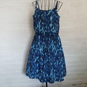 Calvin Klein blue leopard dress. Small